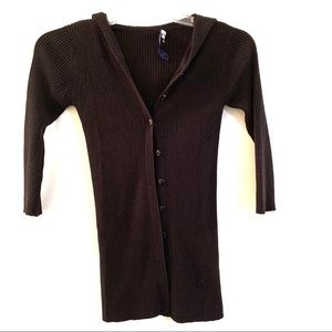 Limited Too 3/4 Sleeve Black Button Up Cardigan